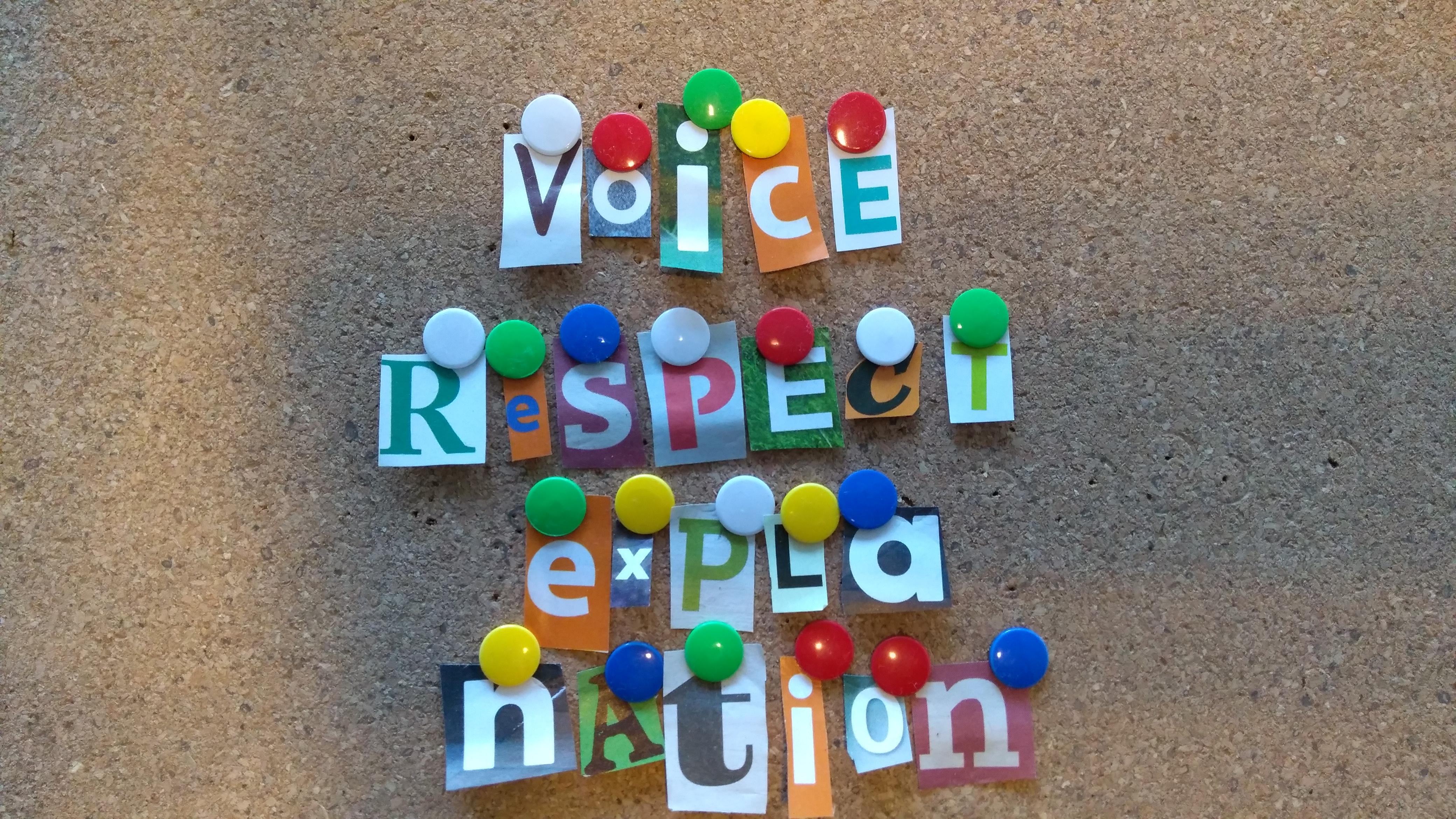 Voice, respect en explanation …